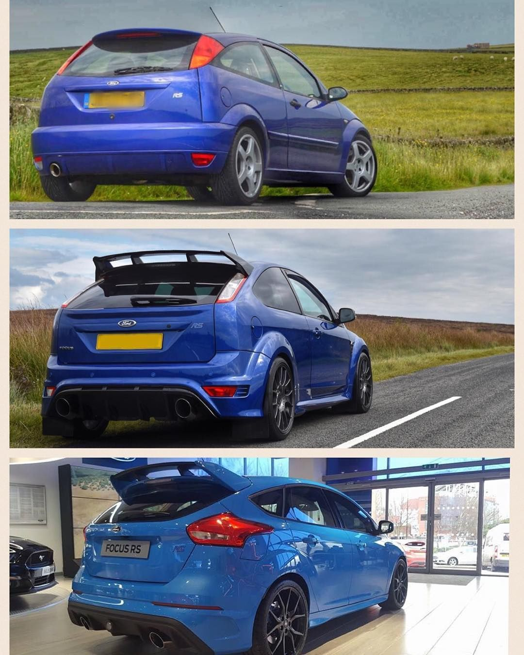 Three Generations Ford Ford Focus Focusrs Forduk Fordmotorcompany Mk1rs Mk2rs Mk3rs Rsoc Focusrsoc By Jane400rs Ford Focus Focus Rs Ford Rs