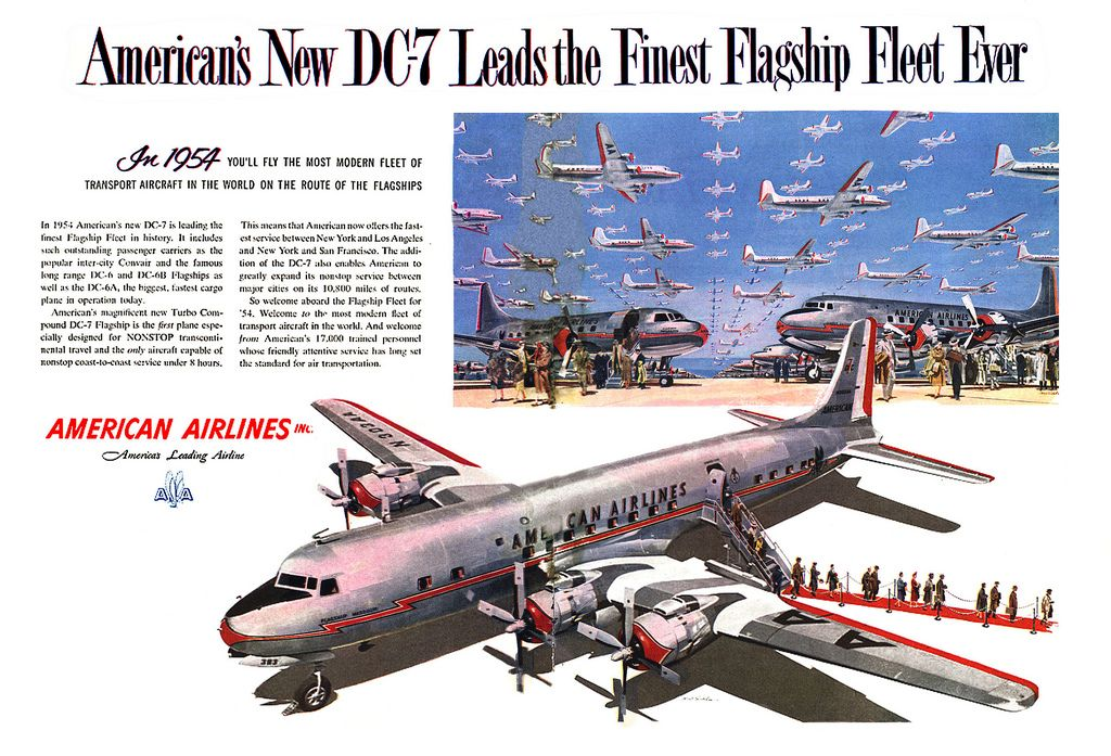 1954- sky full of planes - DC-7 | Flickr - Photo Sharing!