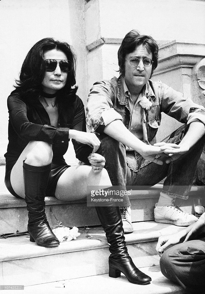 Portrait Of John Lennon And Yoko Ono At Cannes Festival At Cannes In John Lennon And Yoko John Lennon Yoko Ono