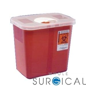 Covidien 8990sa Multi Purpose Red Container 2 Gal Clear Hinged Lid 10 H X 7 Frac14 D X 10 Frac12 W 20 Cs Hinged Lid Container Storage Spaces