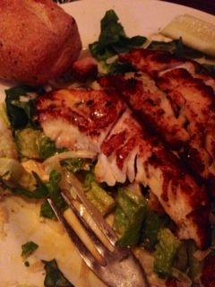 Curragh. Skokie, Illinois. Blackened Cod salad.
