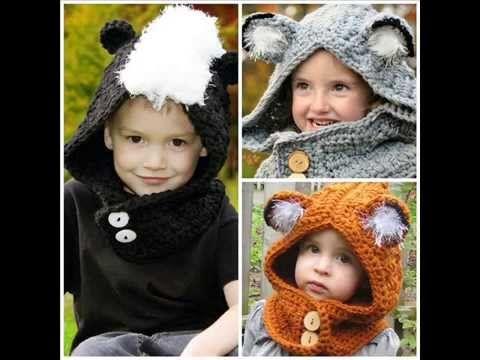 ▶ BABY BEAR HOODIE, how to crochet, newborn to age 5, crochet pattern - YouTube