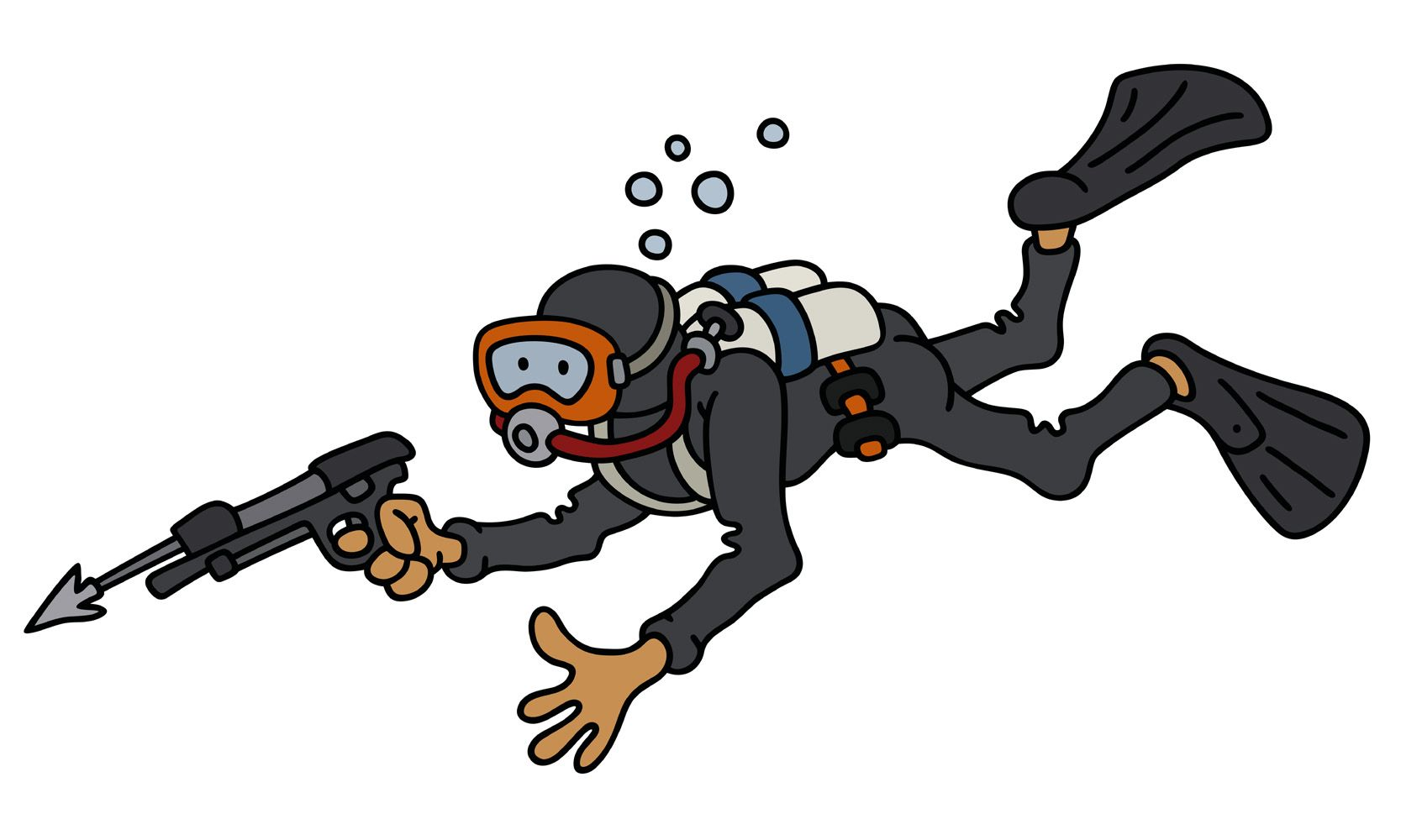 The Funny Diver With A Harpoon