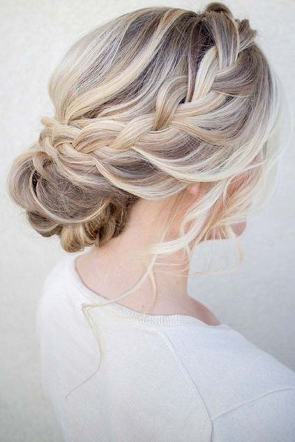 Soft Low Voluminous Updo Hair By Me Bridesmaid Hair Updo Side Hair Styles Long Hair Styles