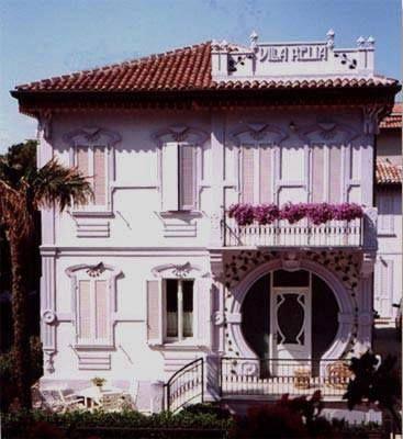 RIMINI VILLA ADELIA   Decorazioni liberty, Art nouveau, Villa