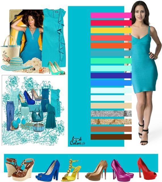 Azul turquesa moda pinterest colores color y for Que color asociar con el azul turquesa