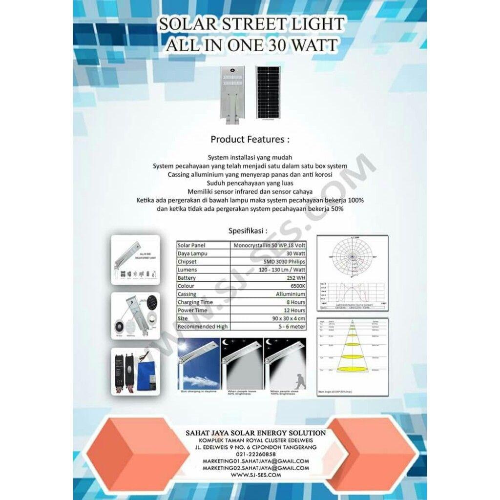 Lampu Isl 30 Watt Lampu Tenaga Surya Bercahaya