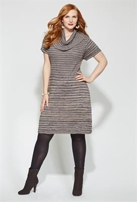 6f88a65b9 Plus Size Space Dye Sweater Dress