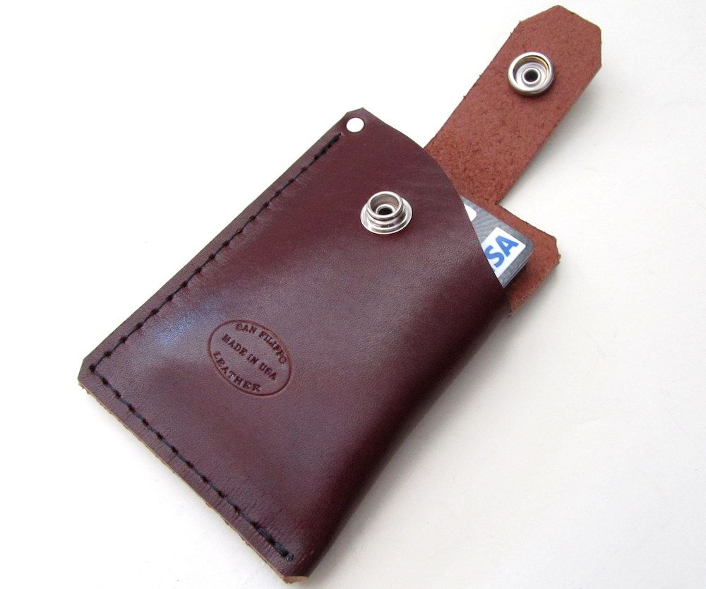 Leather Mens Card Wallet by San Filippo Leather
