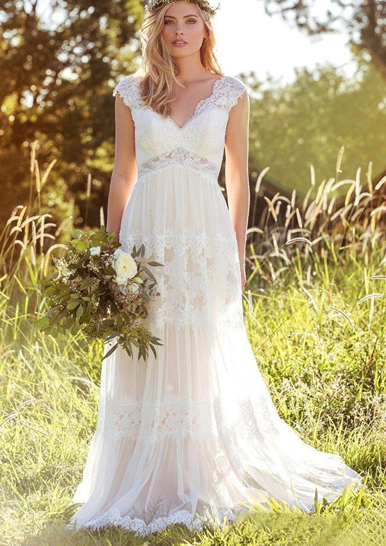 Dressesonline Bohemian Wedding Dresses Lace Bridal Gowns Backless ...