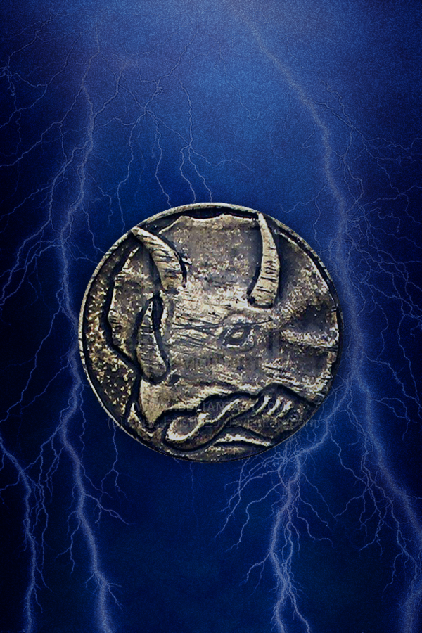 MMPR Blue Ranger Triceratops Coin iPhone Wallpaper by