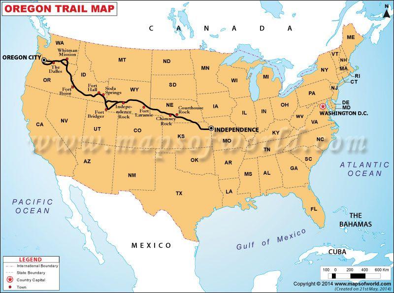 Oregon Trail Map US Maps Pinterest Trail Maps Oregon - Oregon on the us map