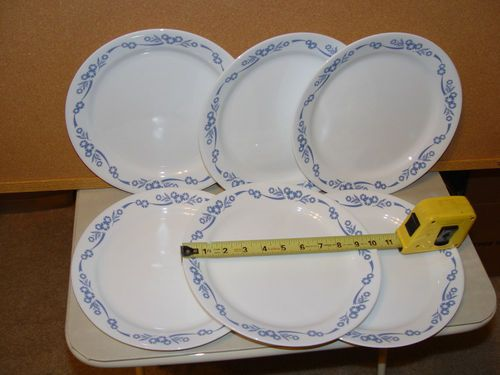 Vintage Corning Ware Corelle Blue Cornflower 10 25 Dinner Plates