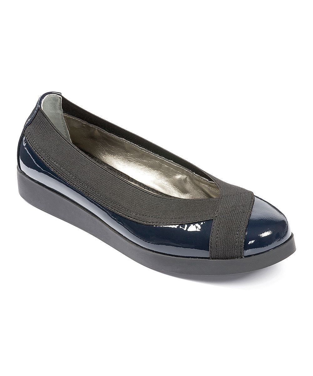 45a3d7b0f914c5 Look at this Me Too Navy Patent Barbara Ballet Flat on  zulily today ...