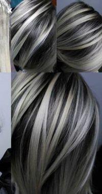 26 super Ideas hair color gray ombre balayage -   7 hair Grey highlights ideas