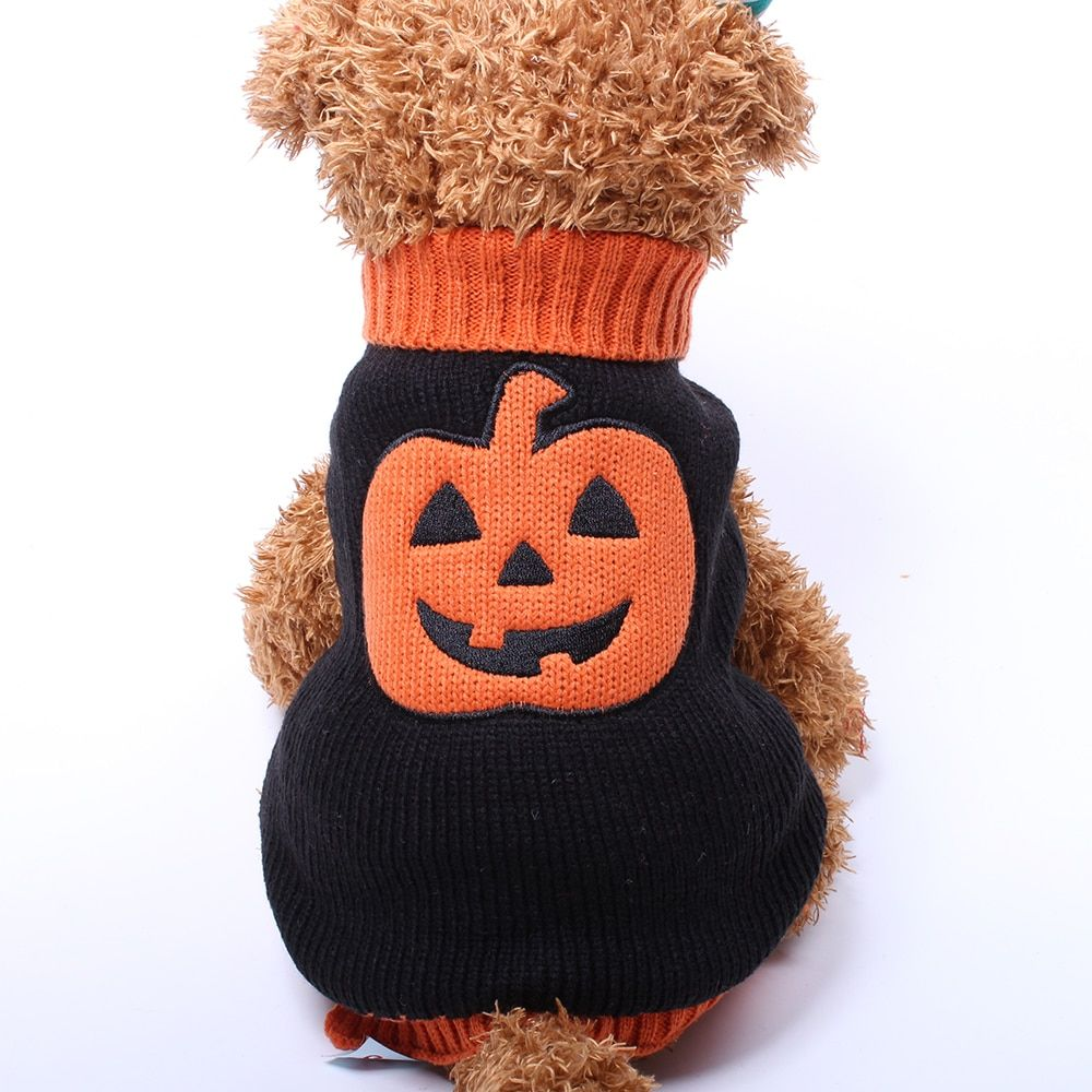 Halloween Pumpkin Sweater for Dogs/Cats Dog sweaters