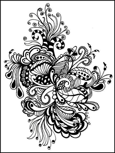 cool Zentangle art | Zen Doodles 2 | Pinterest | Cuadernos de dibujo ...