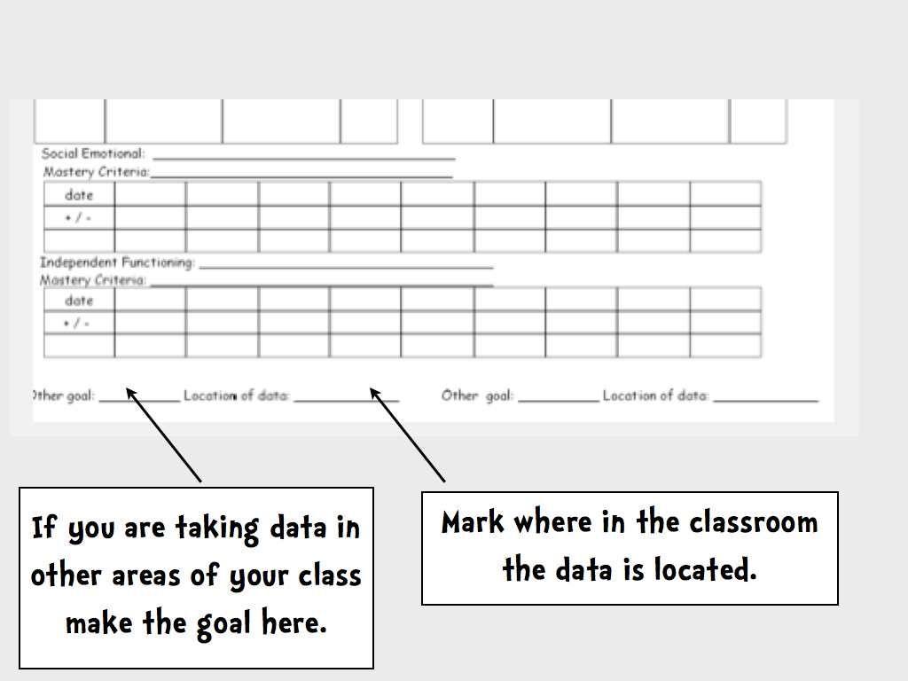 Blank Monthly Data Sheet Template - freebie