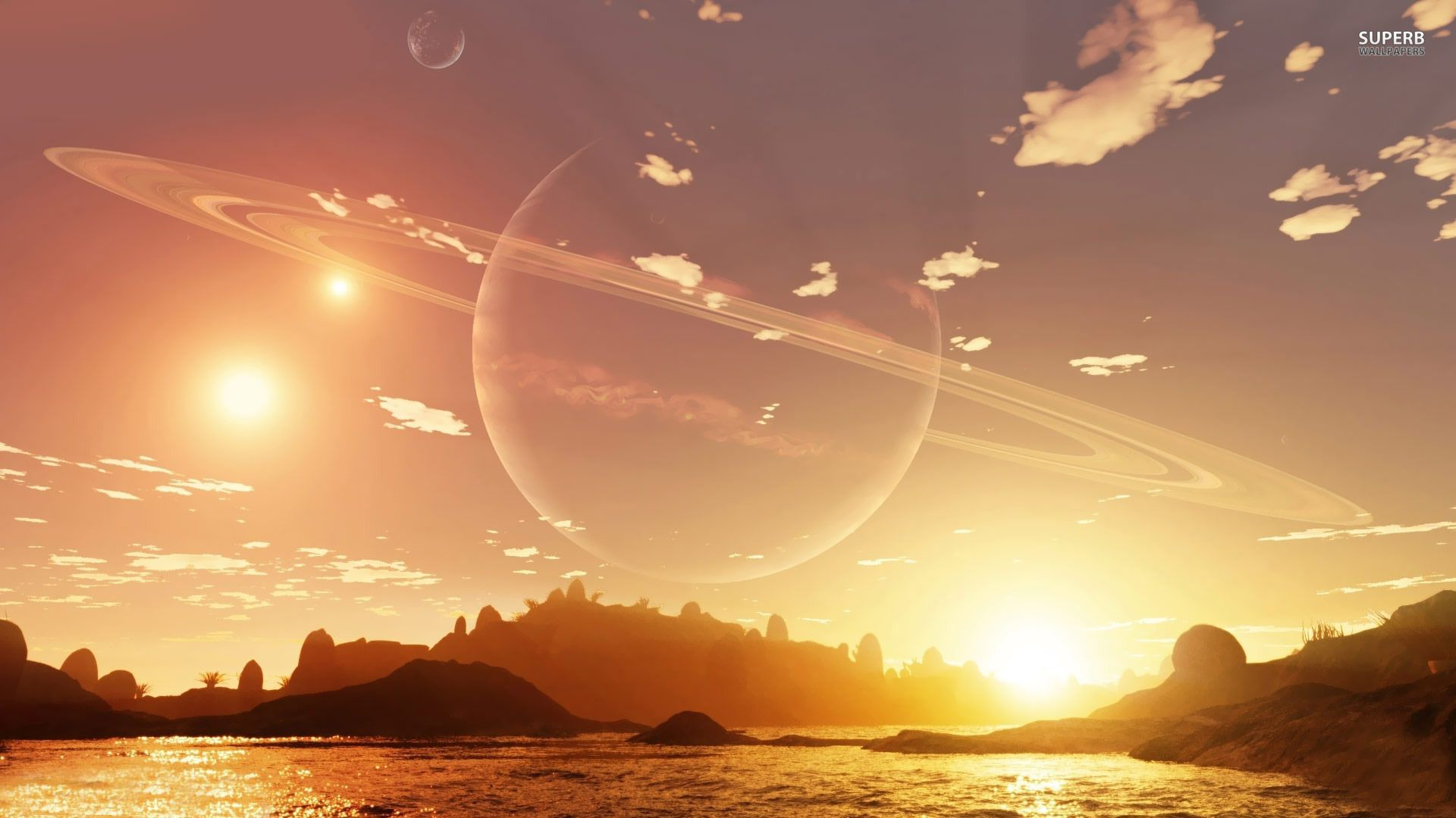1920x1080 Planet In The Sky During Day HD Wallpaper ...