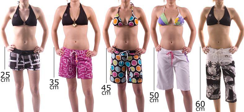 women wear long length board shorts - Google Search  3505ec6786