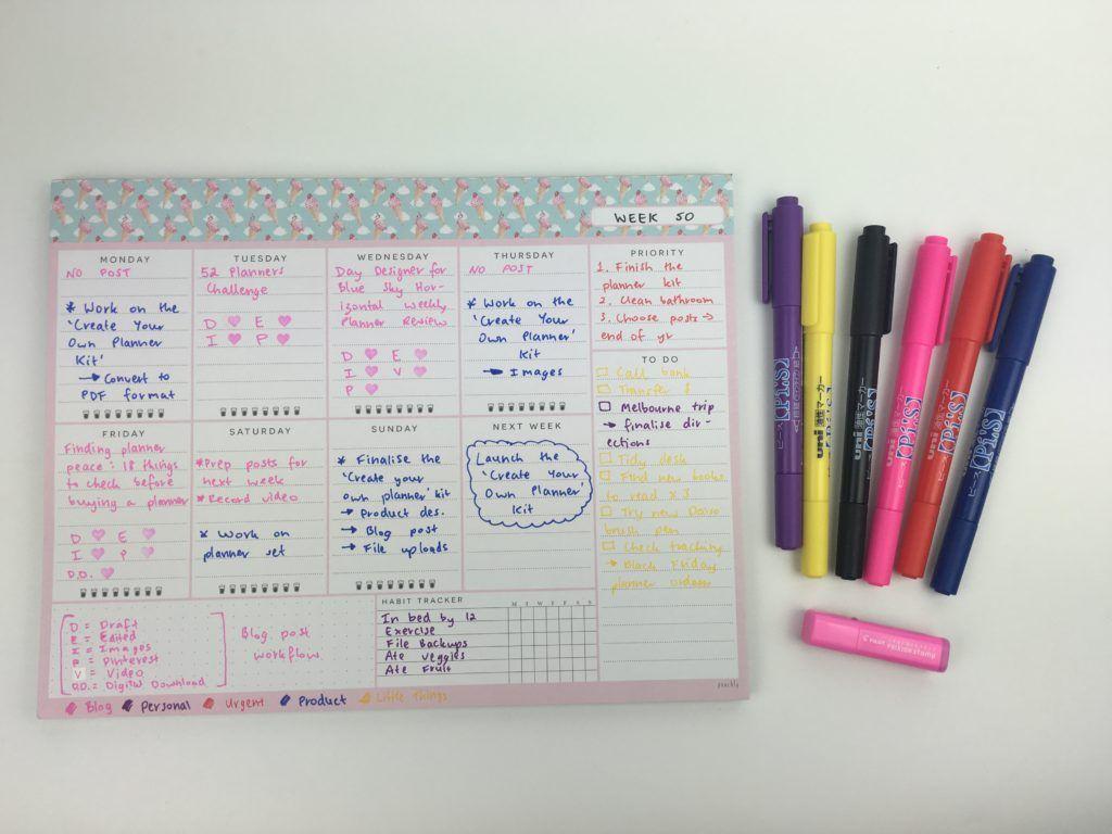 Using A Landscape Page Orientation Weekly Planning Notepad Week 50 Of The 52 Planners In 52 Weeks Challenge Weekly Planner 52 Weeks Bullet Journal