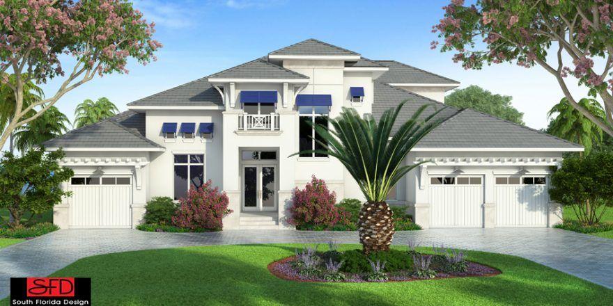South Florida Designs St Cloud 2 Story Coastal House Plan Sfdesigninc Com Florida House Plans Mediterranean Style House Plans Coastal House Plans