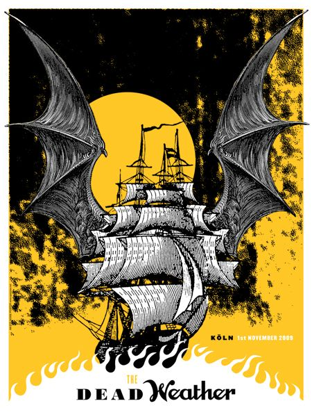 Gig Posters The Dead Weather Dead Weather Tour Poster Concert Poster Design Gig Posters Poster Art