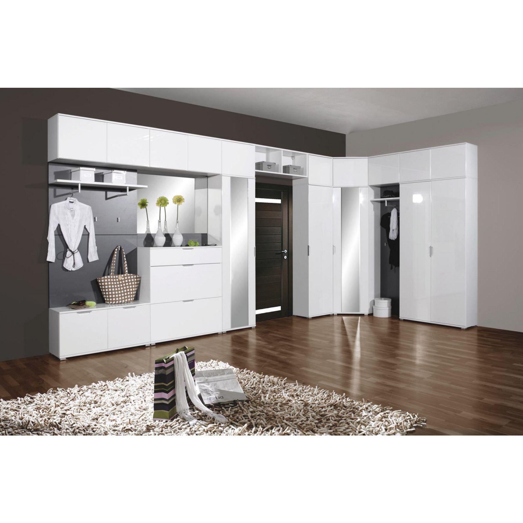 7 teilige garderobe in wei und grau von novel multifunktionell und modern gaderobe in 2018. Black Bedroom Furniture Sets. Home Design Ideas