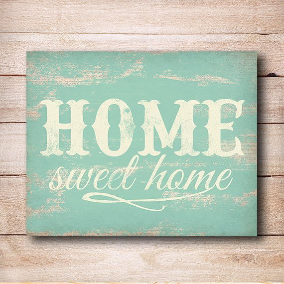 Wall Sign Decor Cool Home Sweet Home Print  Rustic Home Decor Typography Printable Decorating Design