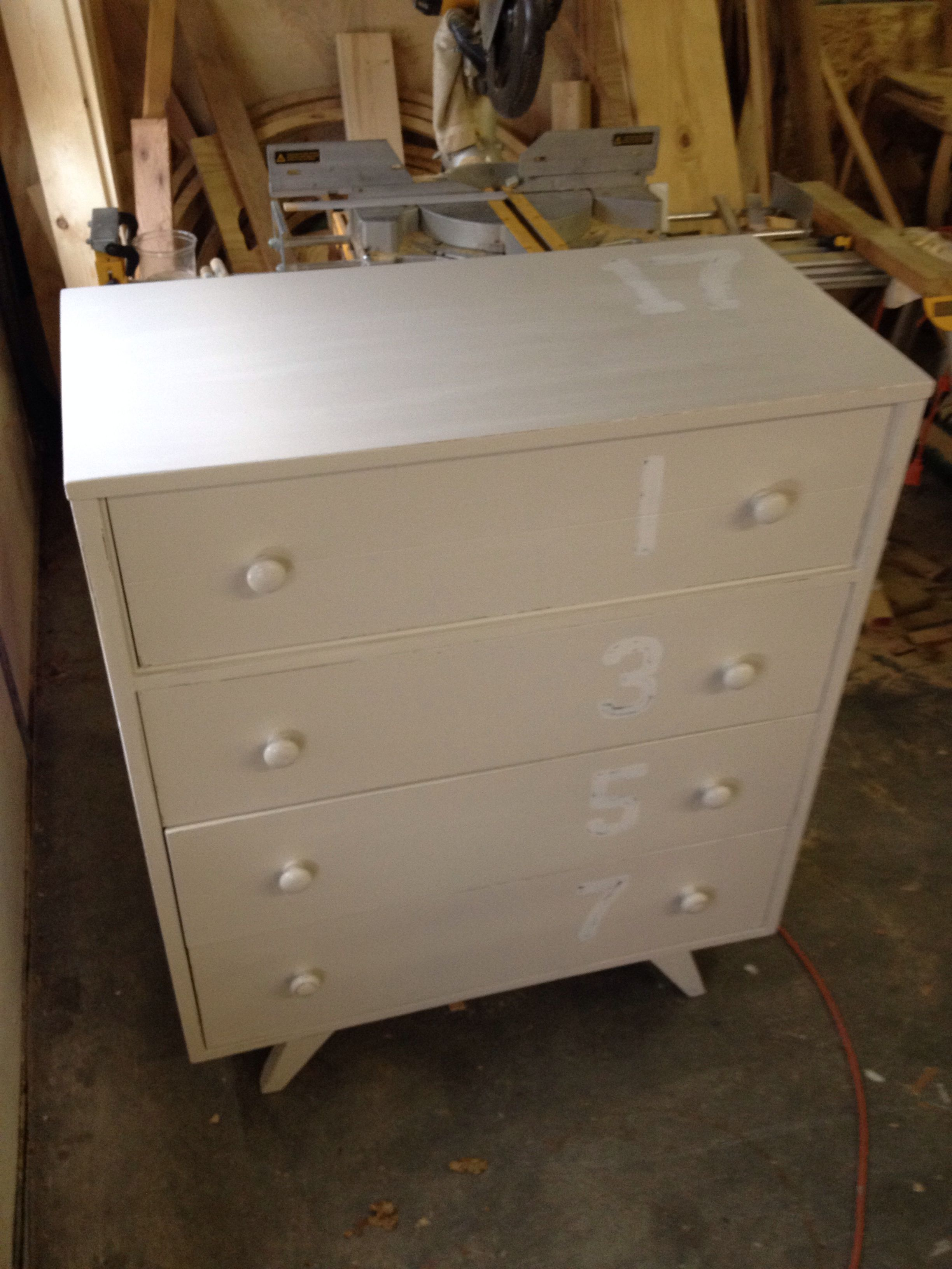 I like putting #s on dressers they have no significance
