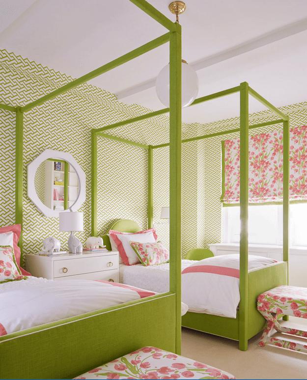 Coastal Bedrooms, Bedroom Green, Bed