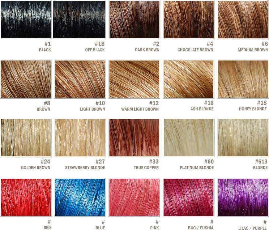 Hair extensions color chart CLASSIC OLD HOLLYWOOD DRESSING1930 - hair color chart
