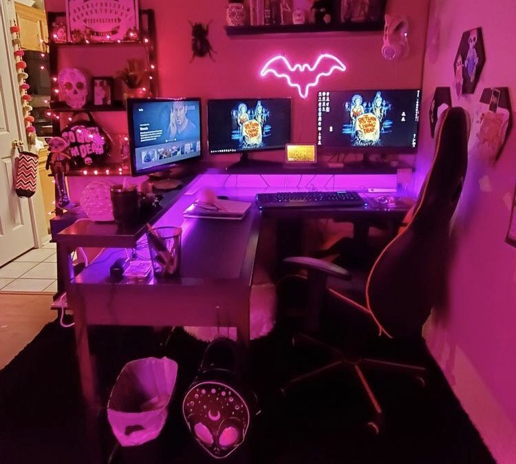 Pin By Dhee On Gamer Video Game Room Design Game Room Design Gamer Room Decor Lola almost finished new room