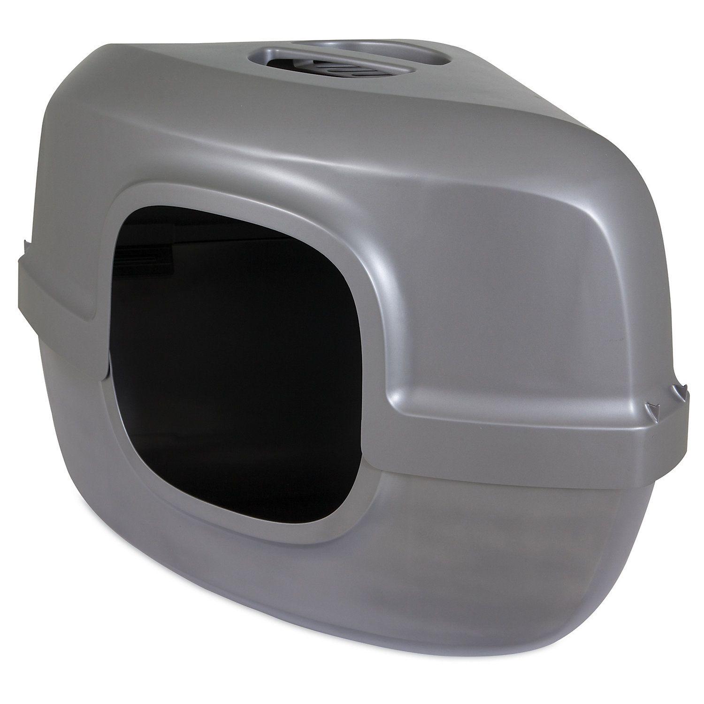 Petmate Hooded Corner Litter Pan For Cats 26 L X 19 W X 19 4 H Pet Mat Litter Pan Cats