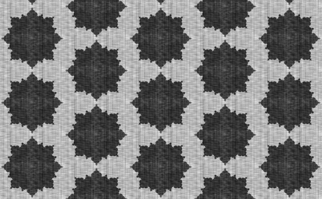Starburst ~ Black and White Linen Luxe ~ Mediumer fabric by peacoquettedesigns on Spoonflower - custom fabric