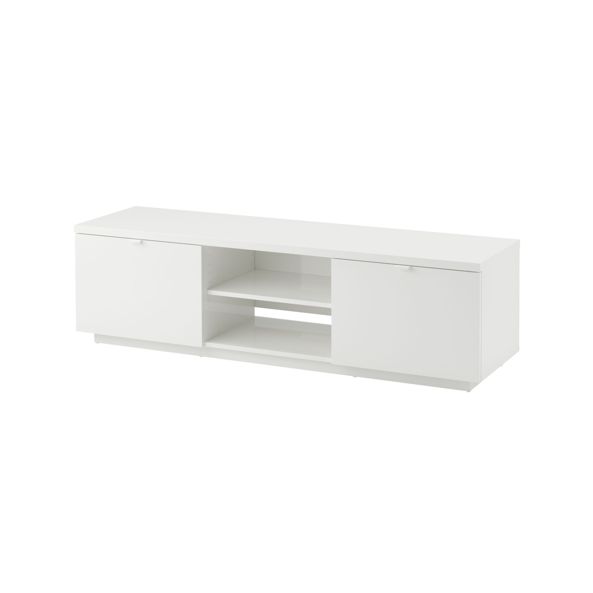 BYÅS TV unit, high gloss white high gloss white IKEA