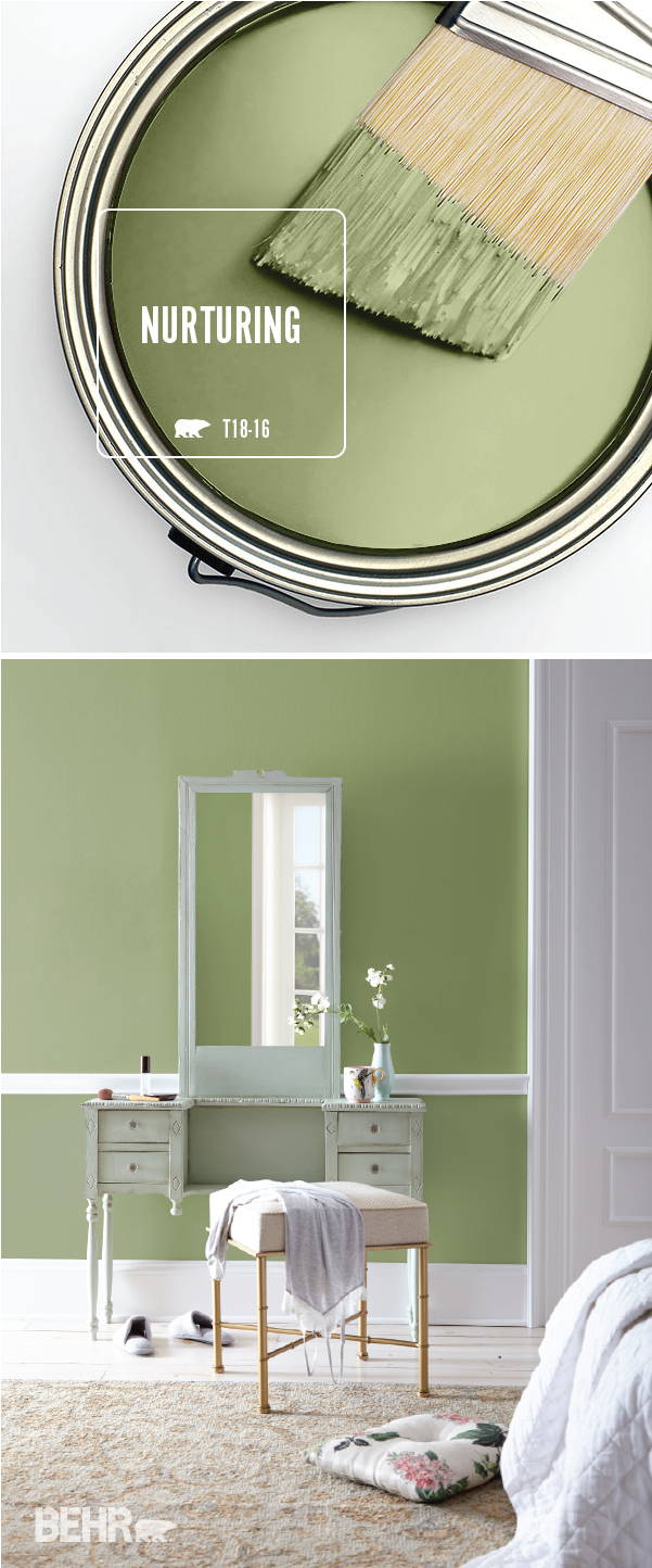 Color of the Month Nurturing Colorfully BEHR Bedroom