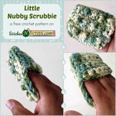 Free Pattern - Little Nubby Scrubbie | Free crochet, Crochet and ...