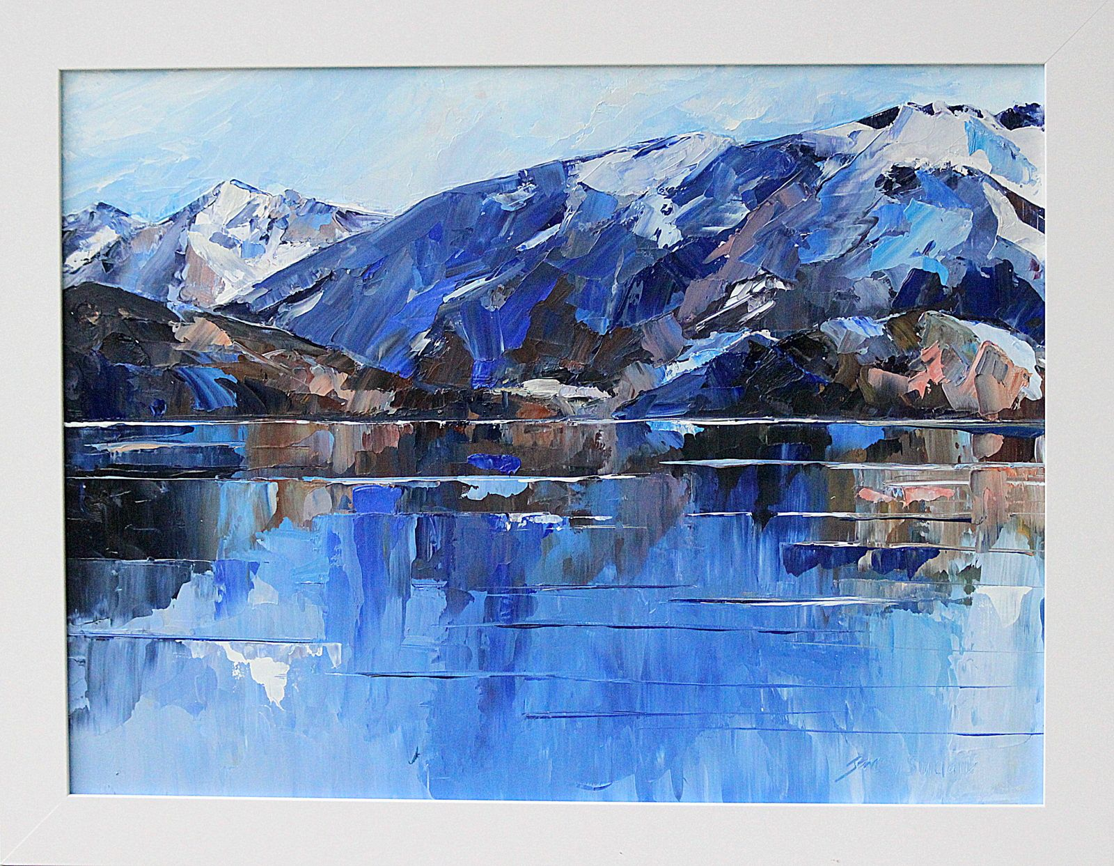 Wanaka Reflections Jane Sinclair Artist Framed Oil Painting