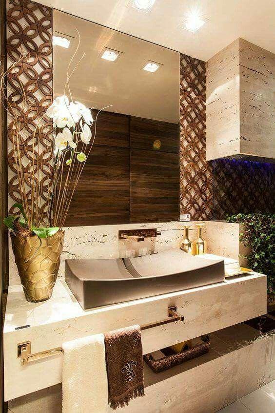 Lk detalhe em volta do espelho decoraci n hogar for Decoracion hogar banos