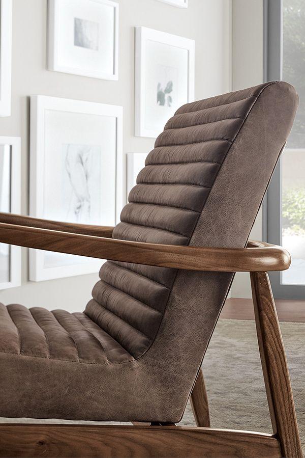 Callan Chair Ottoman Modern Accent Lounge Chairs Modern Living Room Furniture In 2020 Furniture Leather Furniture Chair Ottoman