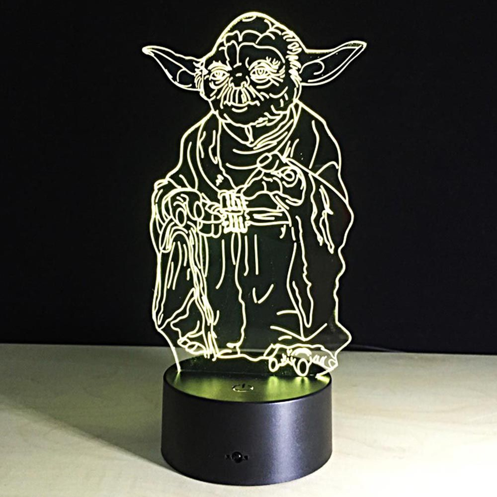 Star Wars Jedi Master Yoda Lamp 7 Colors Changing Light Festival Lantern Christmas Decoration Supply Glow Access 3d Led Night Light Star Wars Light Night Light