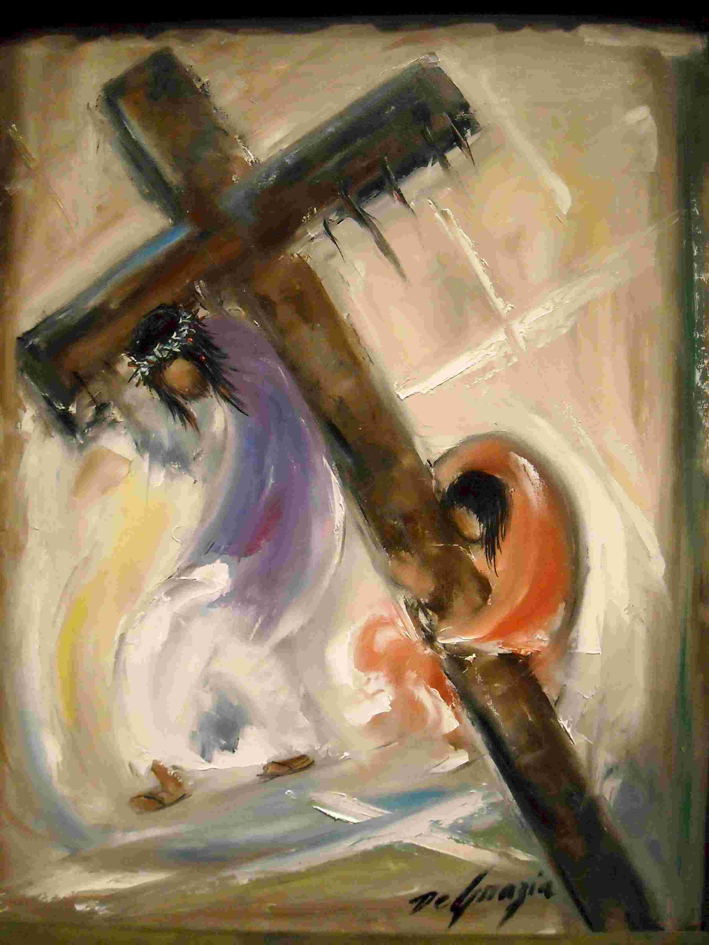 5 simon of cyreania helps jesus carry the cross krizova cesta