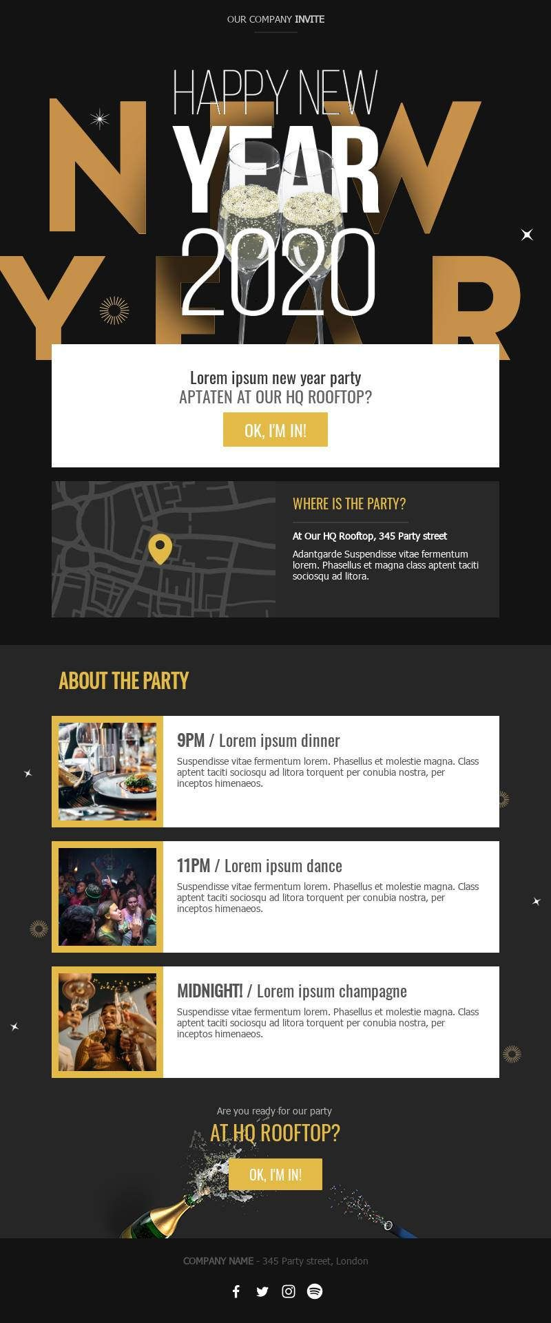 Template Bee Free Email Template Design Email Templates New Year Designs