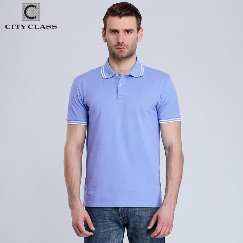 dbe1b552ce CITY CLASS New Mens Cotton Polo Shirt Brand Clothing Business Casual Solid  Male Short Sleeve breathable polo shirt 2439. Yesterday s price  US  29.80  (26.51 ...