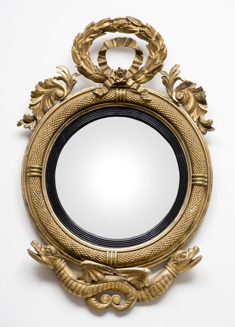 American Federal Giltwood Convex Mirror | MIRRORS | Pinterest ...