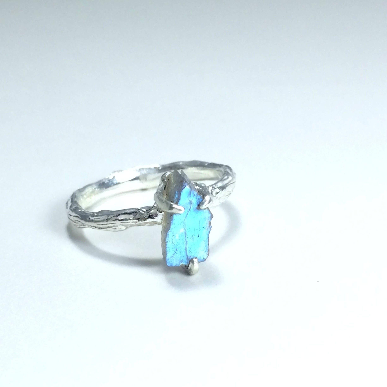 Pyrite Ring Blue Opal Ring Raw Pyrite Ring Opal Open Ring Pyrite open ring Australian Opal Ring gemstone open ring