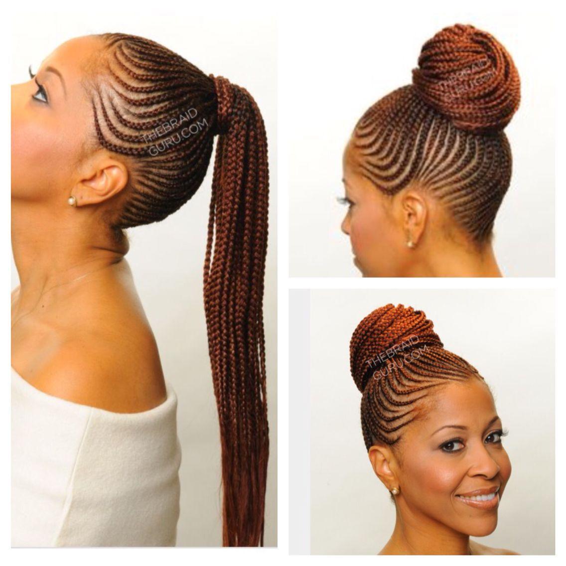 Braided updo bun african braids hairstyles cornrow updo