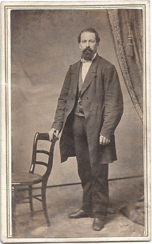 1860s handsome man full beard suit by carter bancroft