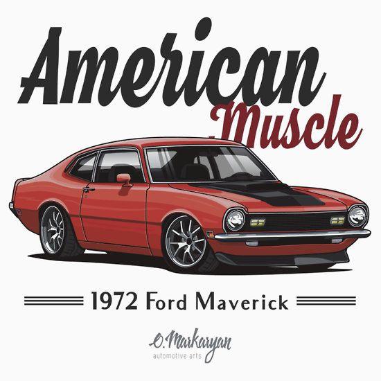 Maverick Carroty Slim Fit T Shirt Com Imagens Carros